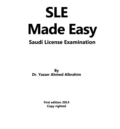 Download SLE Made Easy Saudi License Examination By Dr
