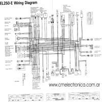 Diagrama kawasaki el250e
