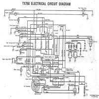 Diagrama yamaha tx750ecd