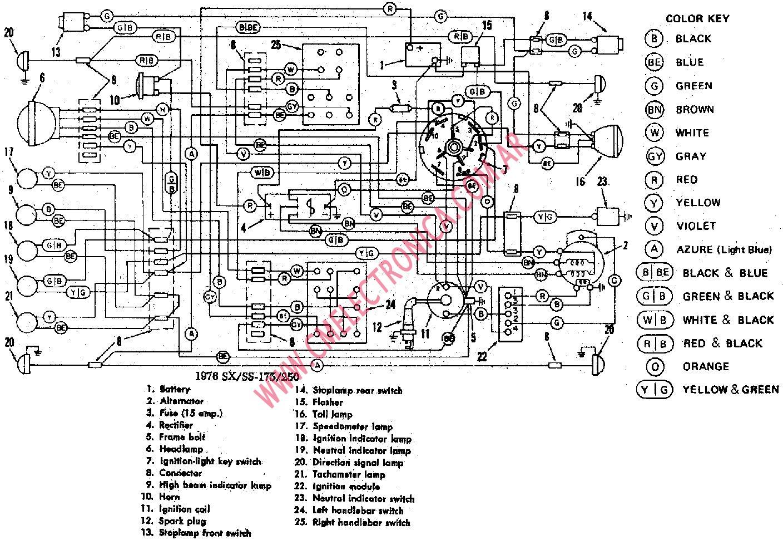 wiring diagram for 1980 flh harley davidson