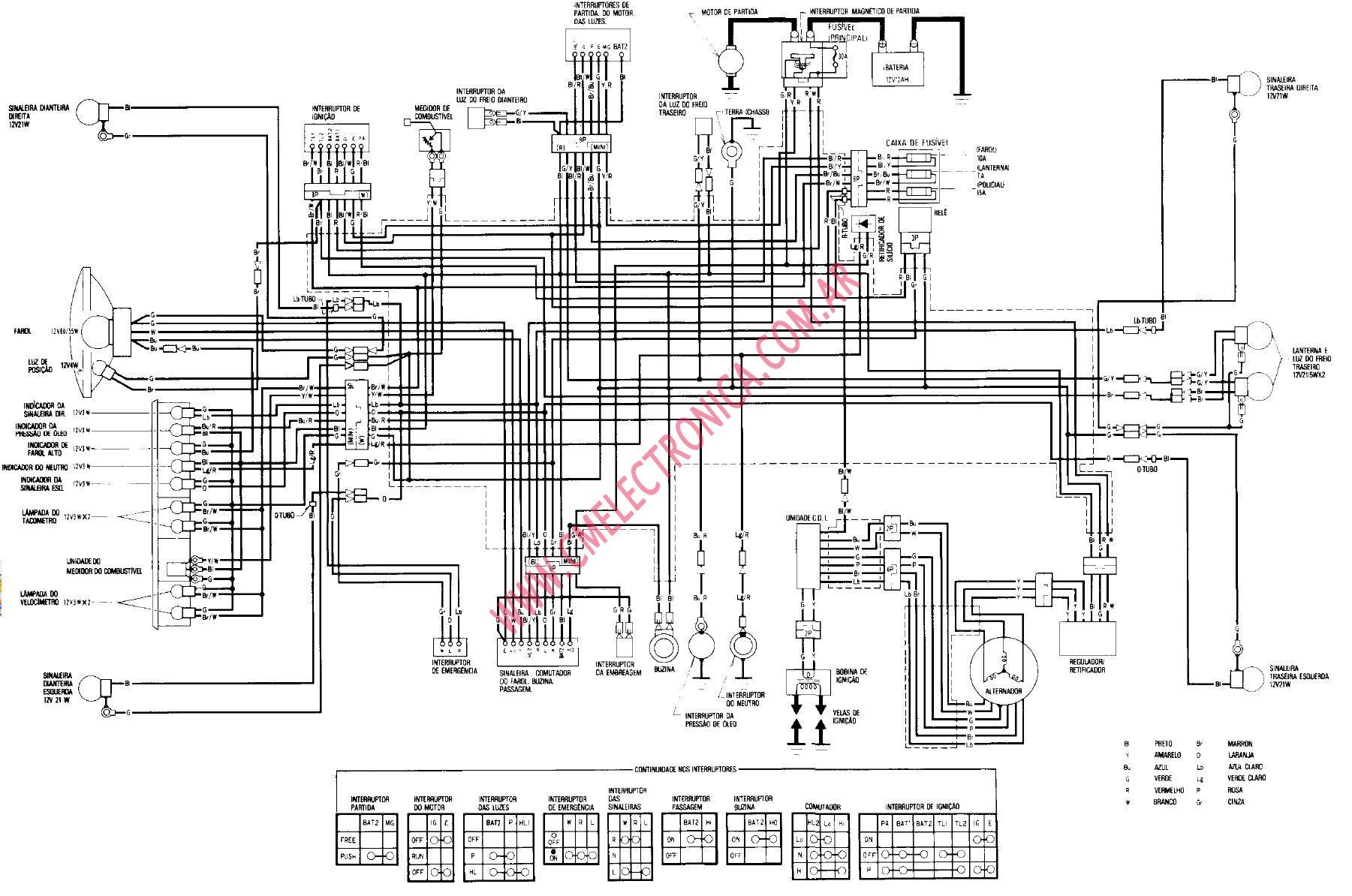 hight resolution of diagrama honda cb400n superdream