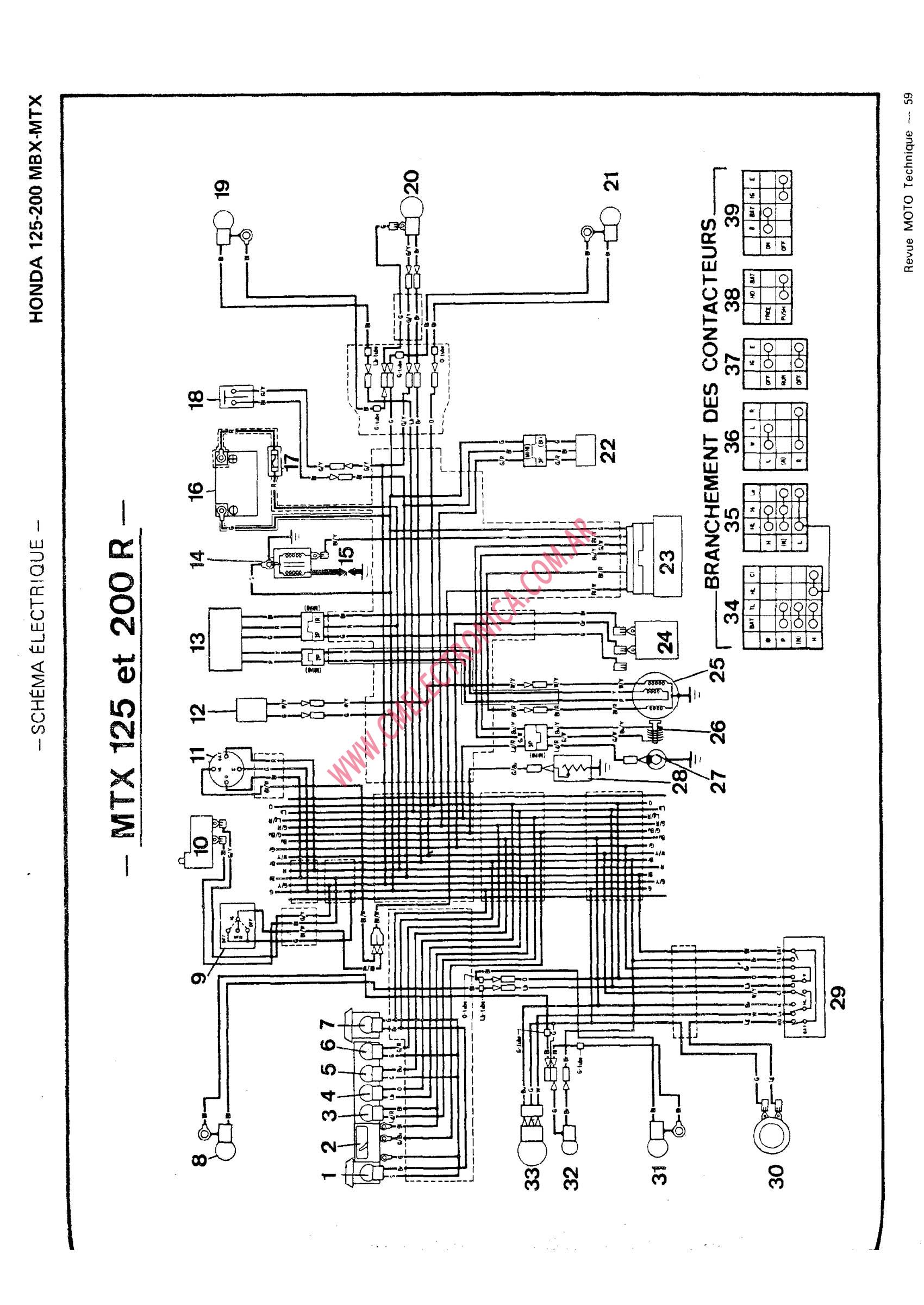 hight resolution of honda mbx125