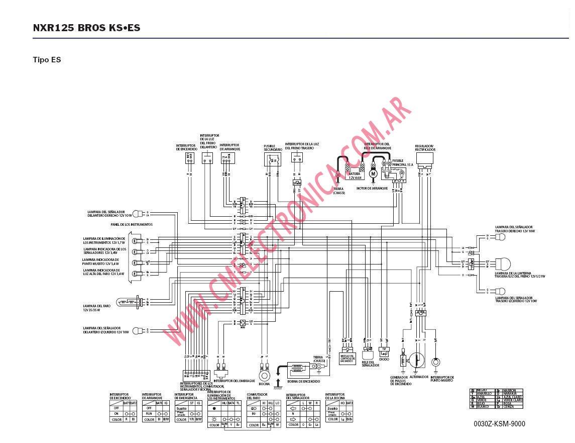 honda xrm 125 cdi wiring diagram hyundai diagrams diagrama nxr125 bross