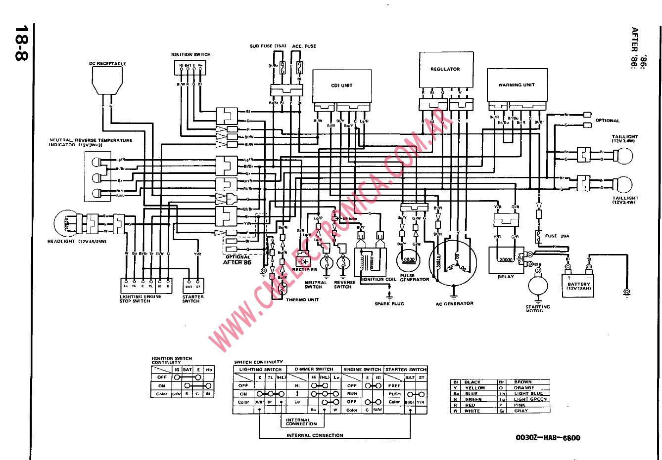 Honda Trx450r Atv Engine Diagram Honda 250R ATV Wiring
