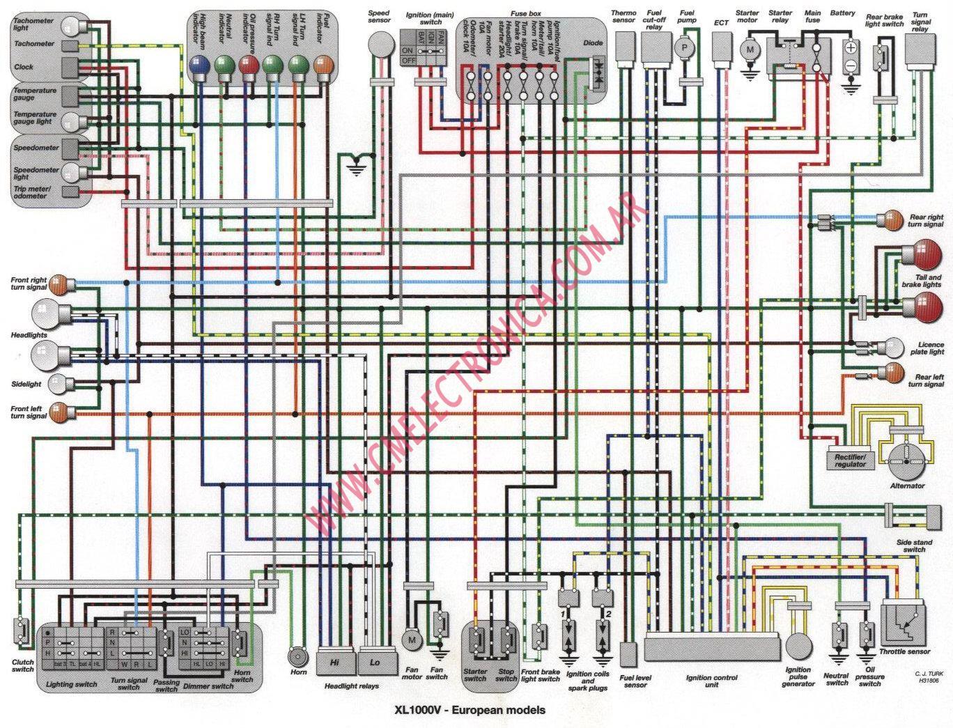 yamaha virago 250 wiring diagram subaru forester stereo diagrama honda varadero xl1000v 1997 2000