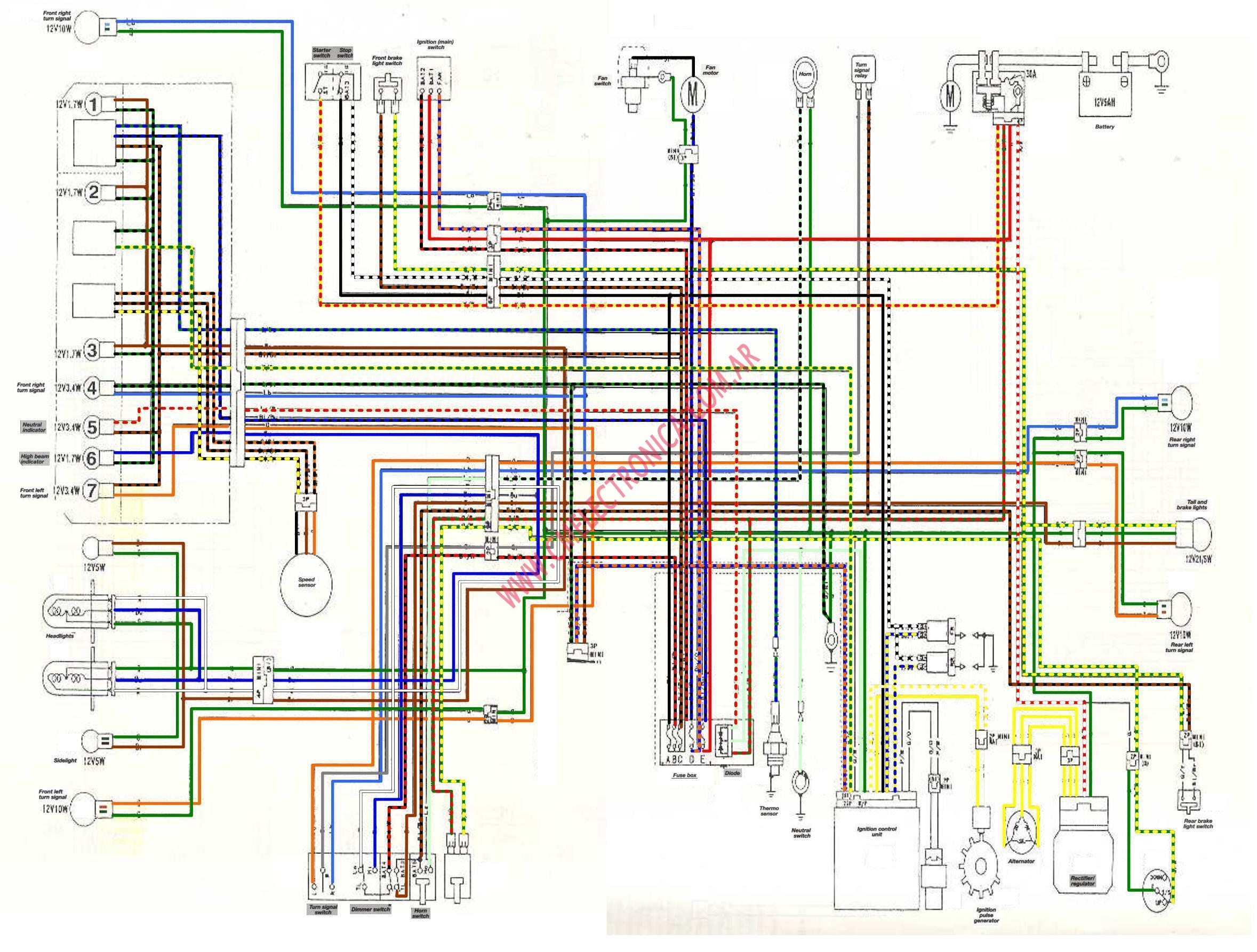 honda xr 125 wiring diagram 240 volt for motorhome diagrama xl125v color