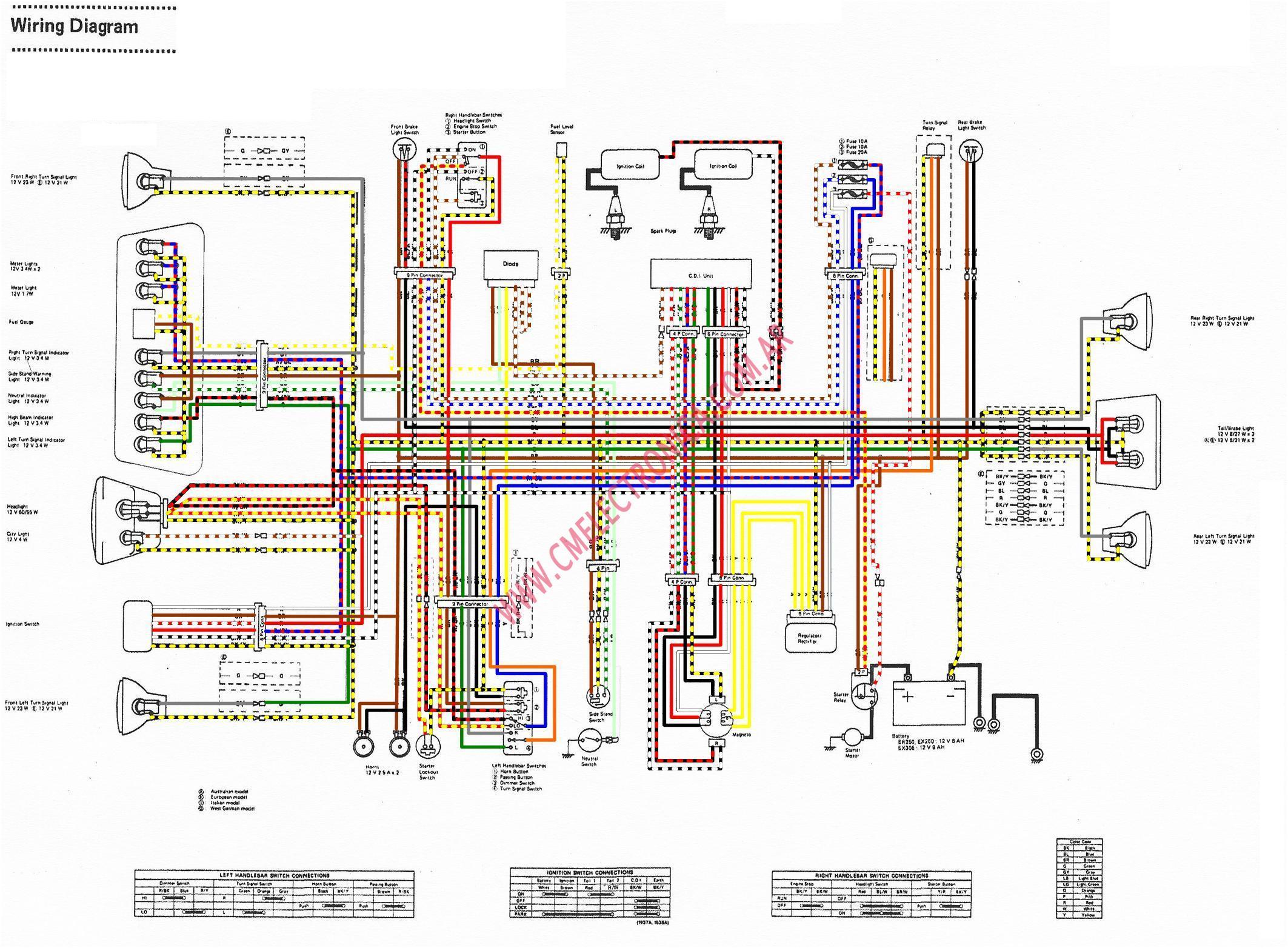 kawasaki ninja 250 ignition wiring diagram