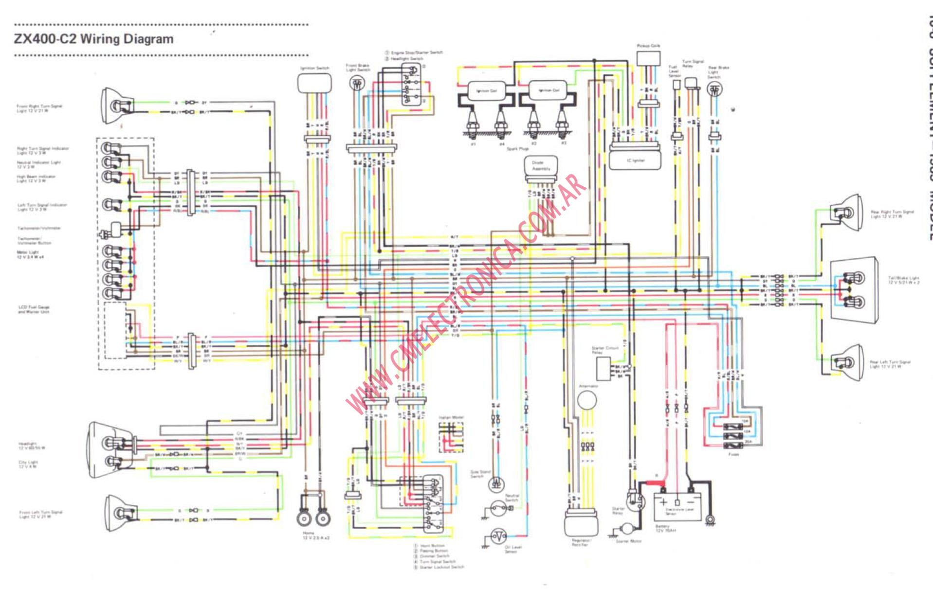 hight resolution of kawasaki gpz 400 wiring diagram