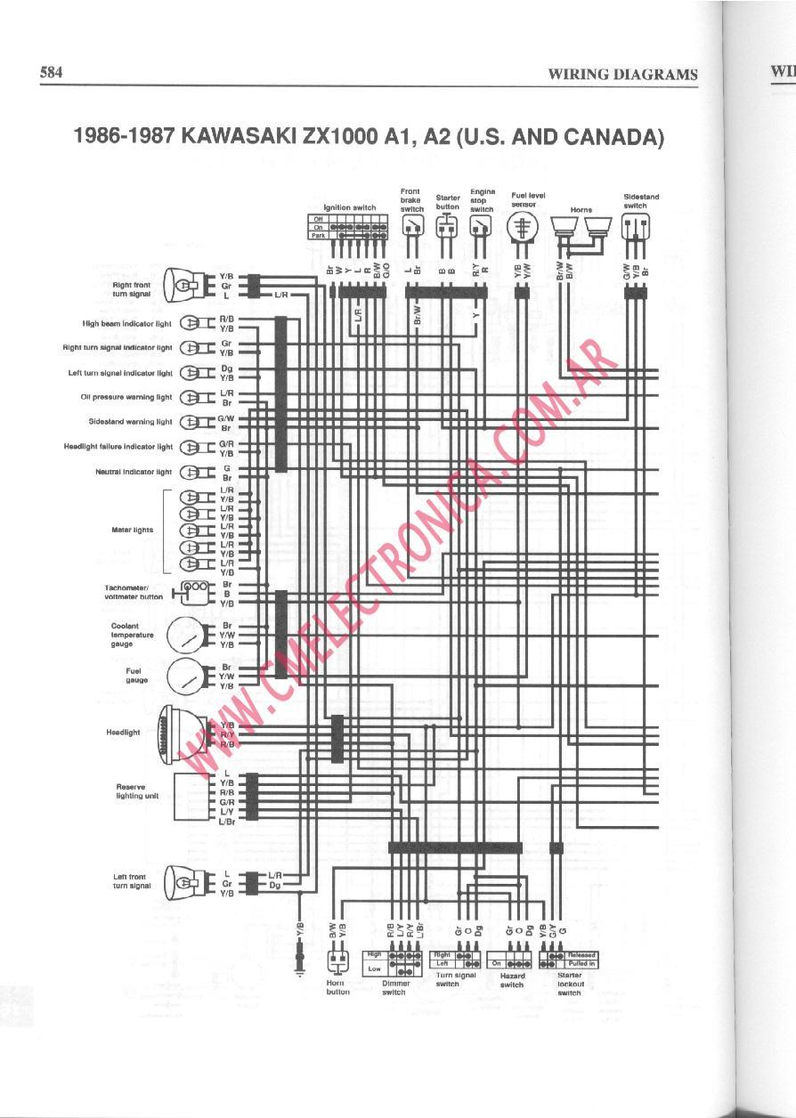 medium resolution of 1989 fzr 1000 wiring diagram likewise 1989 yamaha warrior wiring