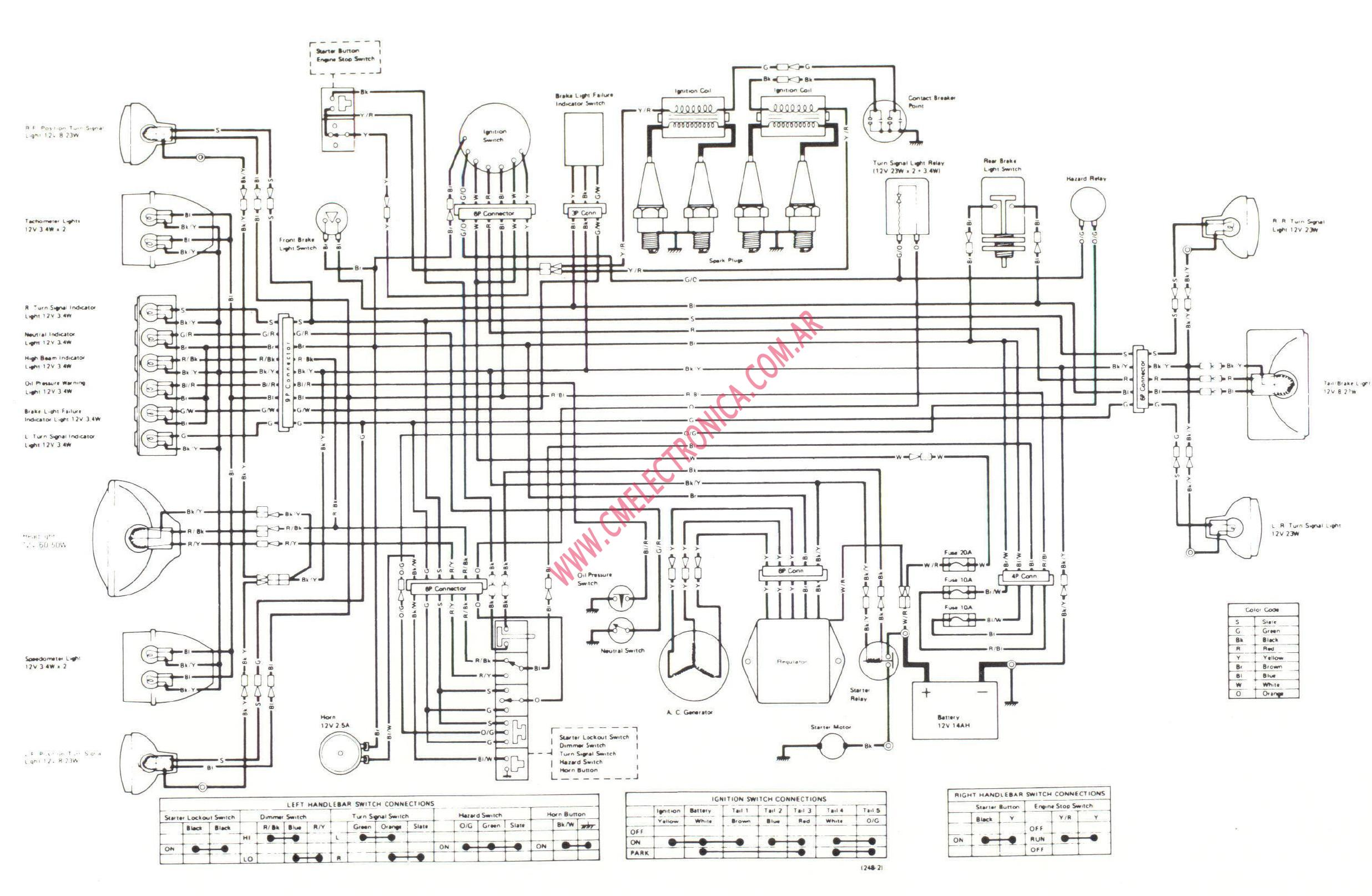 kawasaki-kz1000_1979 Ninja R Ignition Wiring Diagram on
