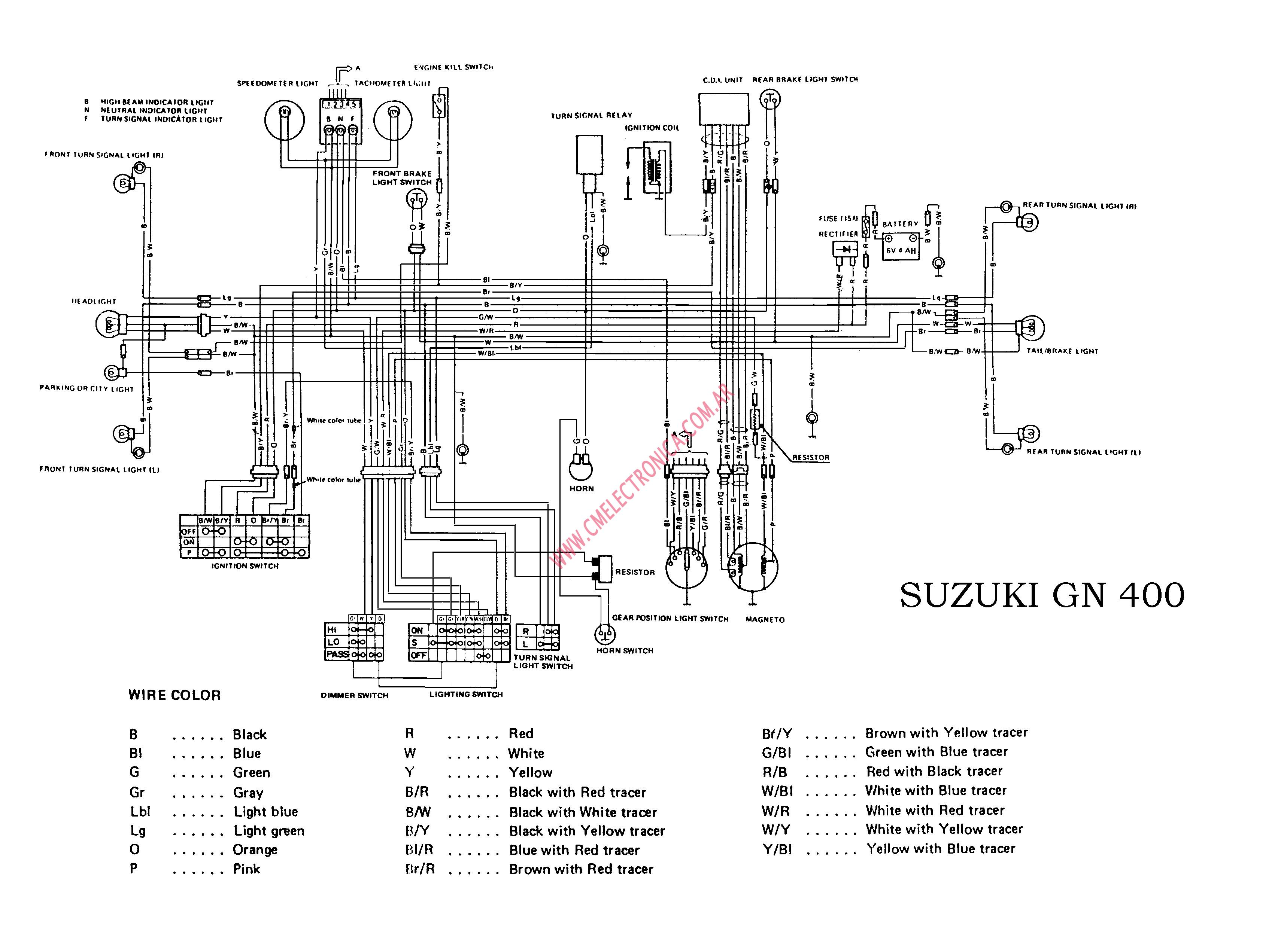 [DIAGRAM] Suzuki Gn 125 Wiring Diagram FULL Version HD