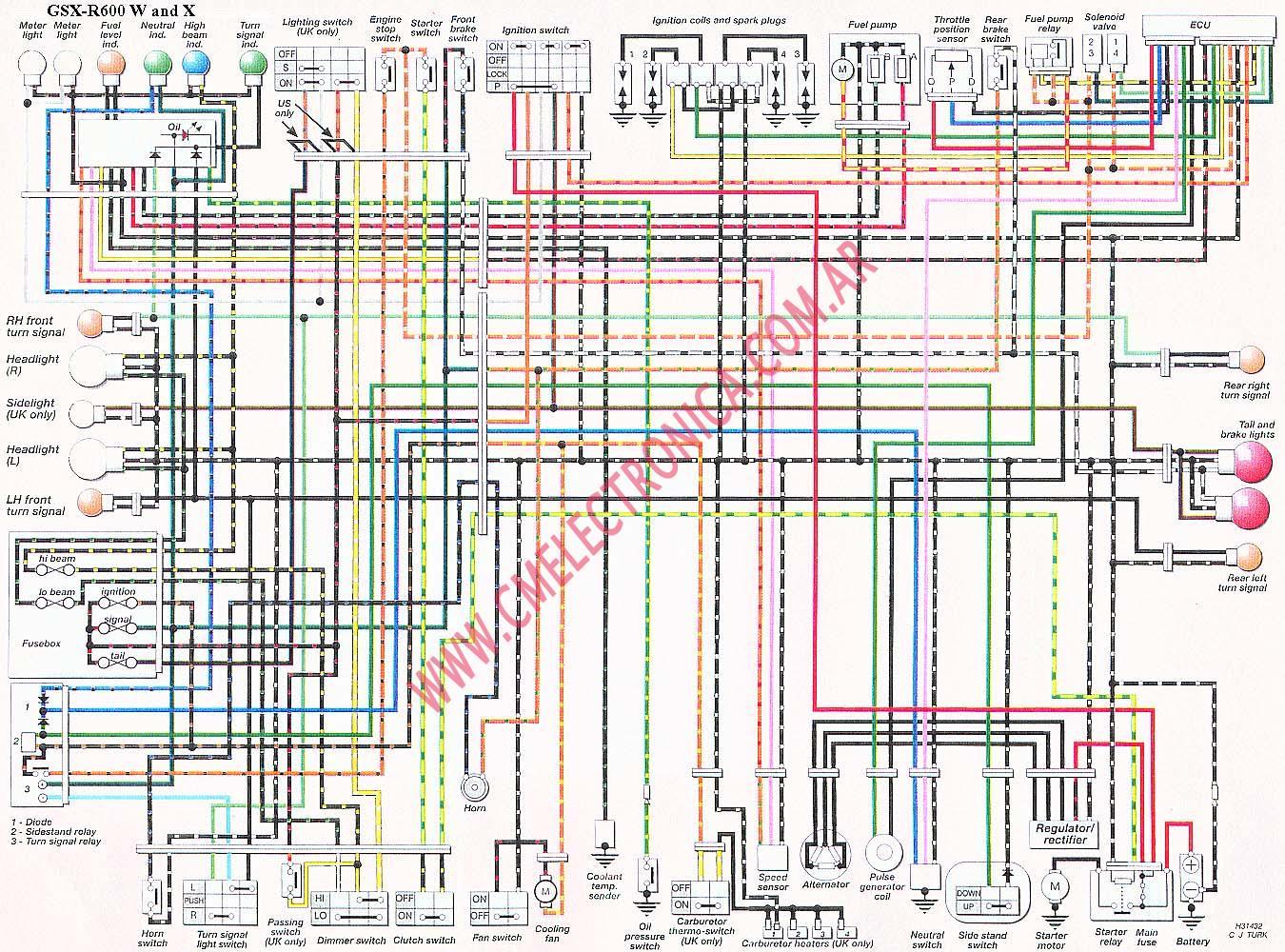 2007 suzuki ltr 450 wiring diagram bargman lights 2000 gsxr 750 schematic all data on a 600 cafe racer simple