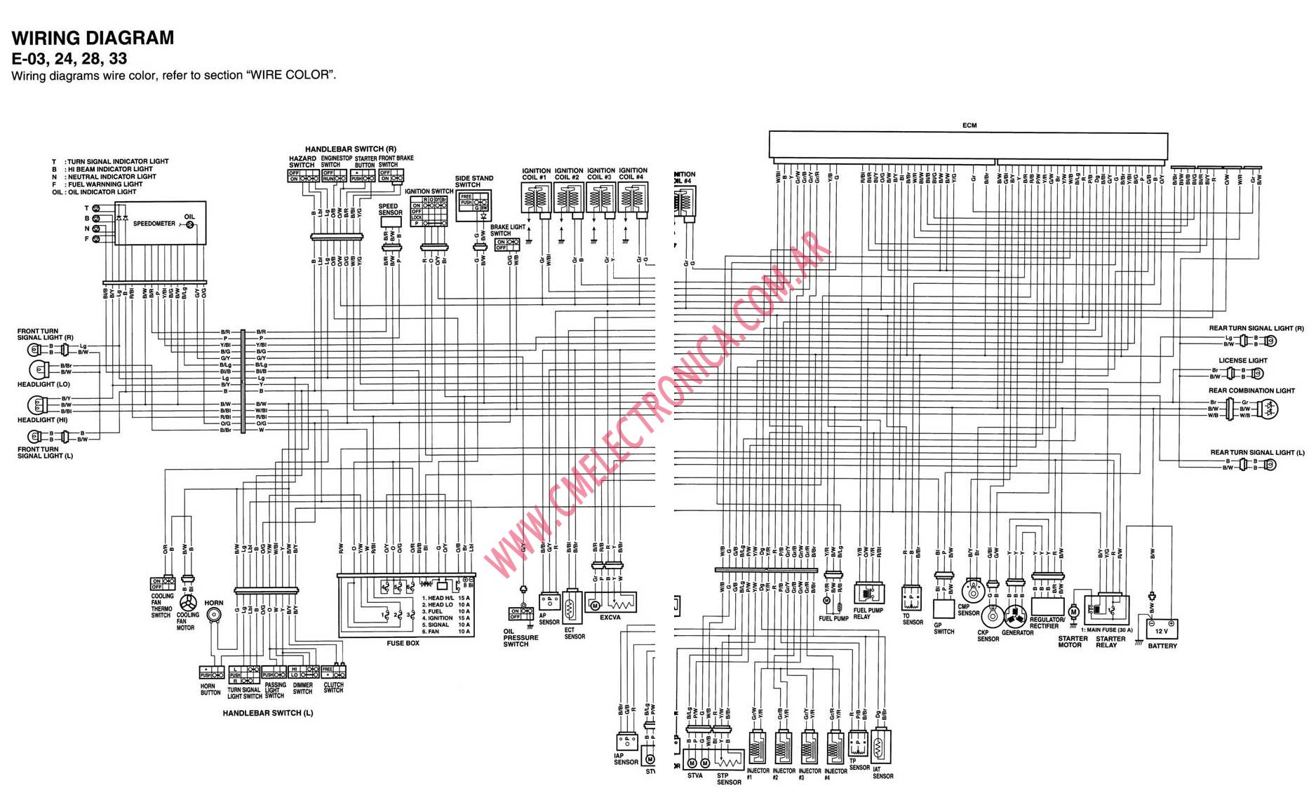 2896B 2002 Suzuki    Gsxr    750 Wire Schematic   Digital Resources