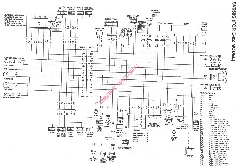 2006 suzuki sv650 wiring diagram residential electrical symbols u2022 rh bookmyad co SV650 Owners SV650 Schematics