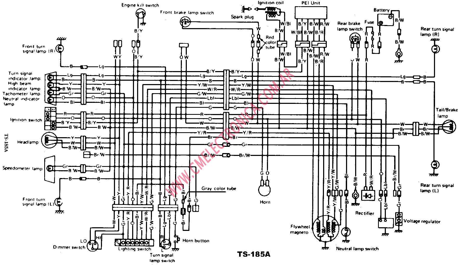 Suzuki Ts 250 Electrical Diagram, Suzuki, Free Engine