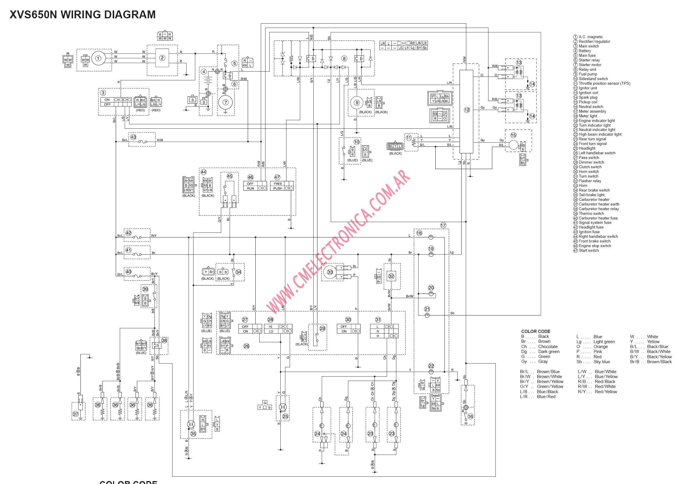 2007 yamaha v star 250 wiring diagram index listing of wiring diagrams