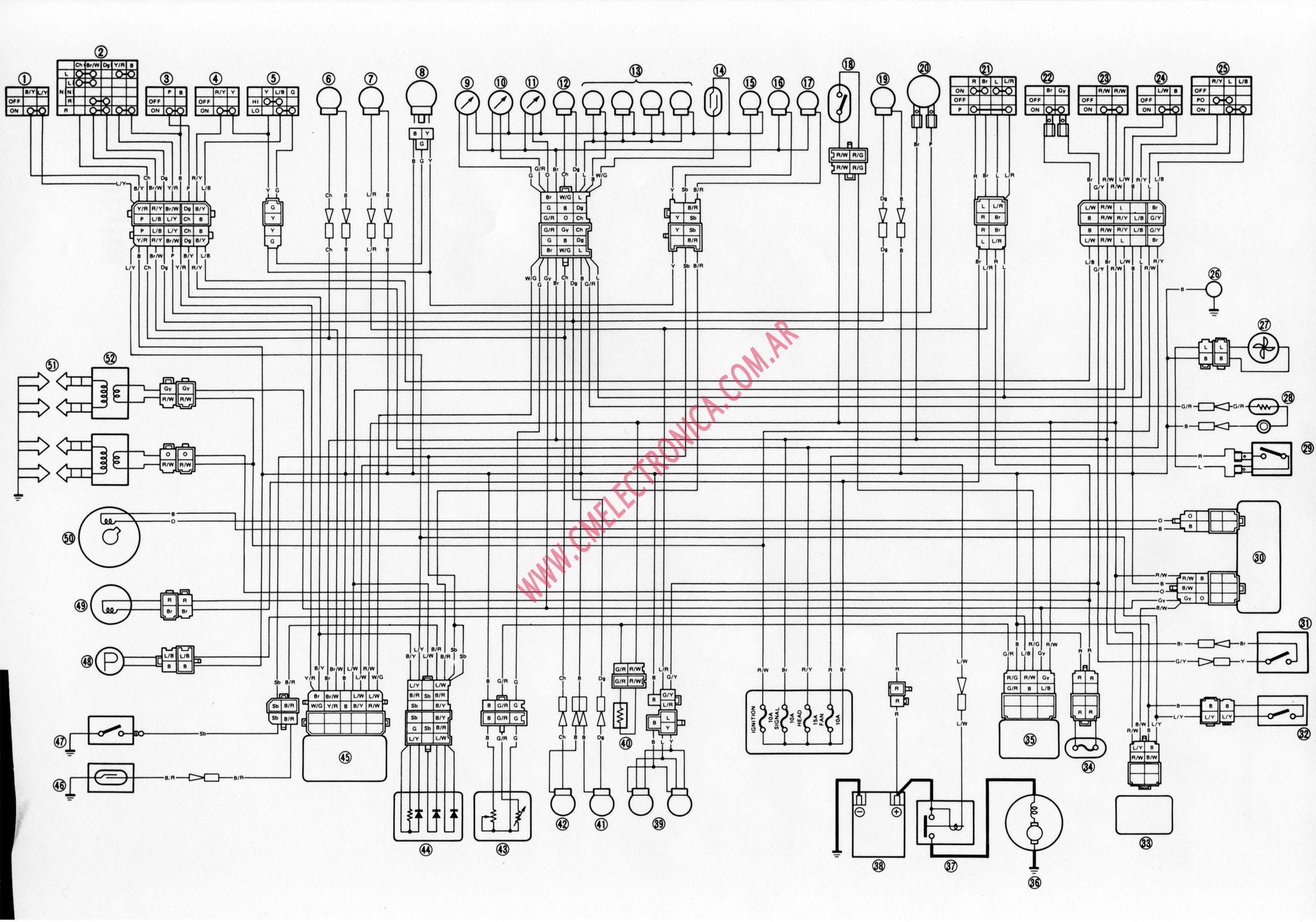 2002 xr650r wiring diagram tree game diagrama yamaha fz750