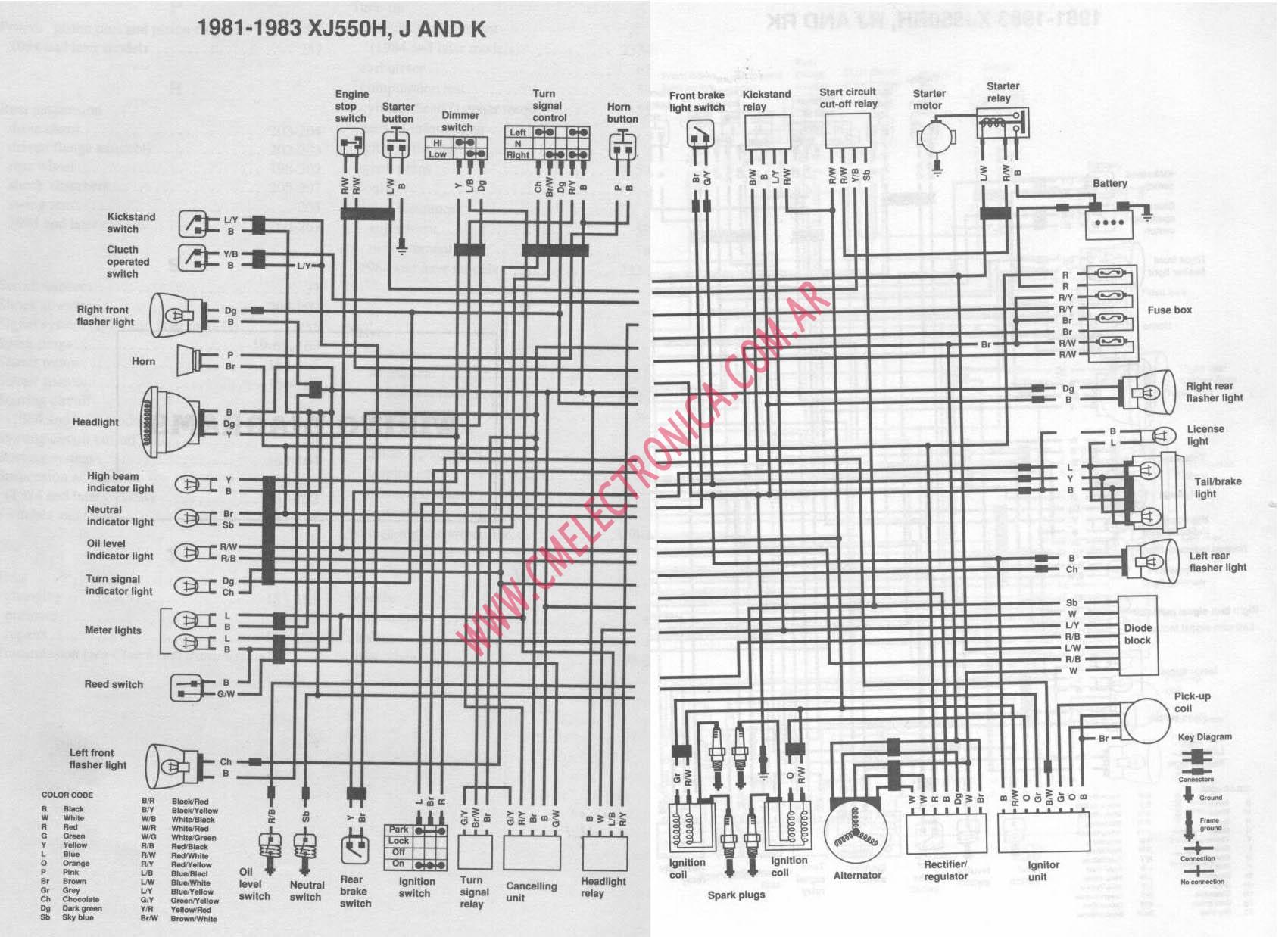 hight resolution of yamaha xj550 wiring diagram wiring diagram detailed 1982 yamaha maxim 550 review 1981 yamaha xj550 maxim wiring diagram