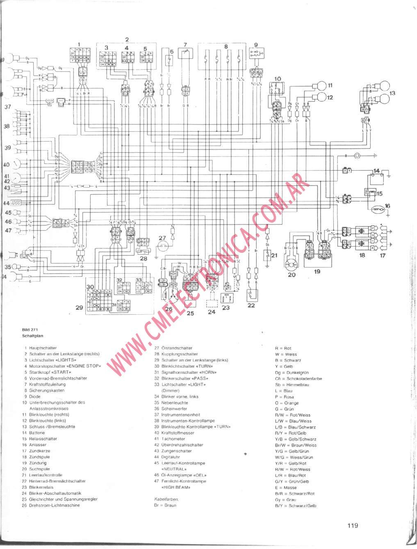 wiring diagram yamaha xj 900