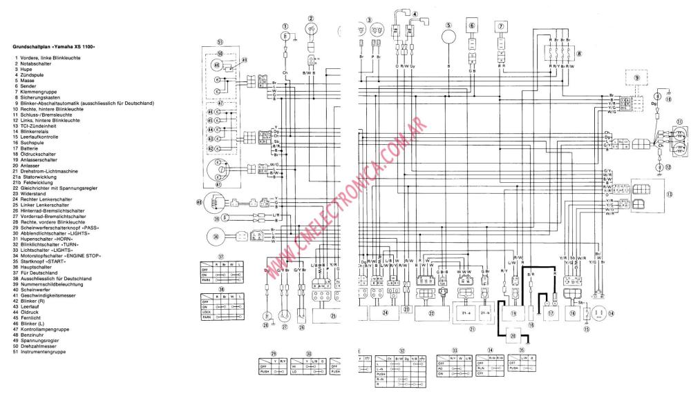 medium resolution of yamaha xs1100 factory owners repair manual 1978 1982 1978 xs1100 wiring diagram 1979 xs1100 wiring diagram