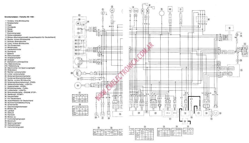medium resolution of xs850 wiring diagram wiring libraryyamaha xs1100 factory owners repair manual 1978 1982 1978 xs1100 wiring diagram