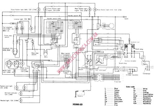 small resolution of 1981 yamaha sr250 wiring diagram