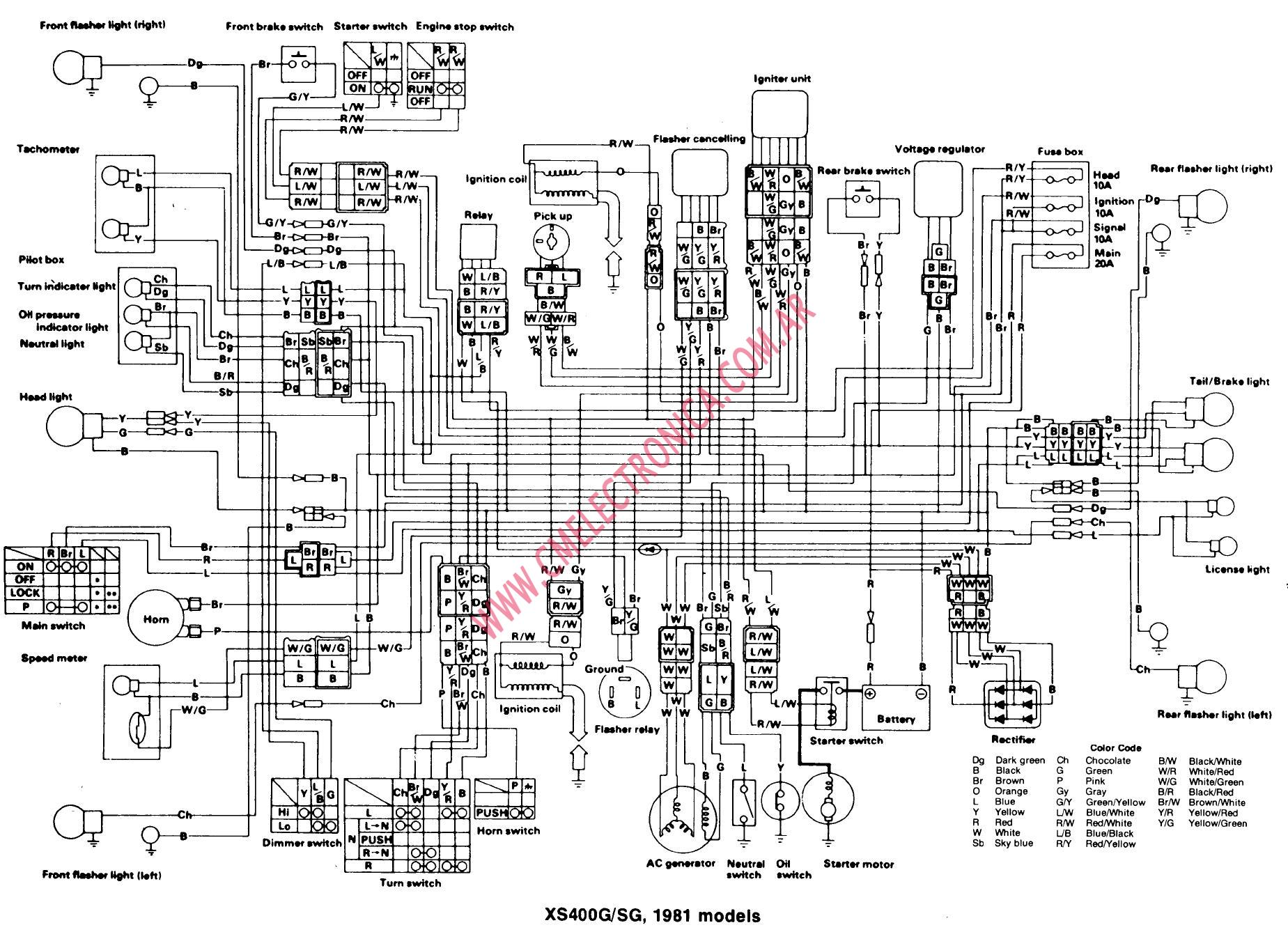 1981 yamaha moped wiring diagram