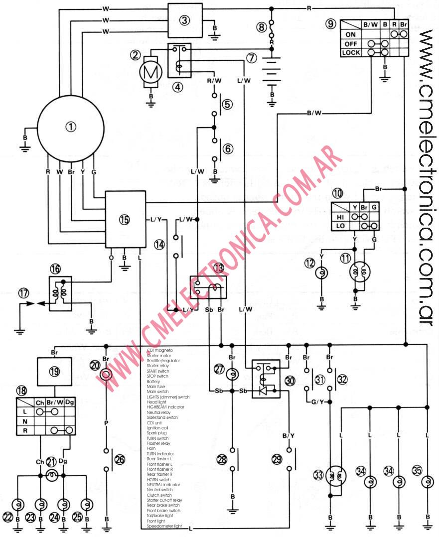 Yamaha Xt 250 Wiring Diagram Free Download, Yamaha, Free