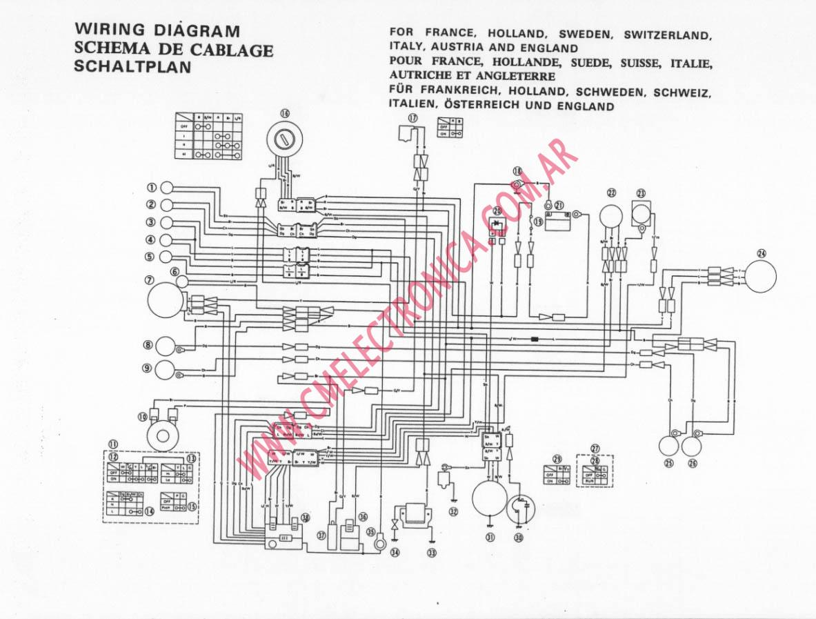 yamaha xt 250 wiring diagram ford f150 fuse panel for 1986 350 get free
