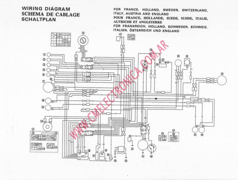 medium resolution of wiring diagram yamaha sr 500