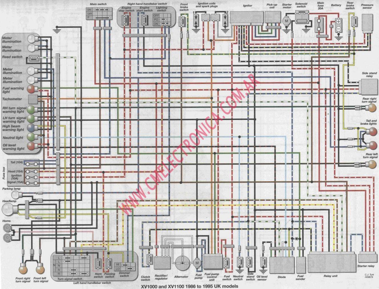 2002 yamaha virago 250 wiring diagram baldor three phase motor xv 9 kenmo lp de xv1000 schematic rh 3 twizer co 1100cc yzf