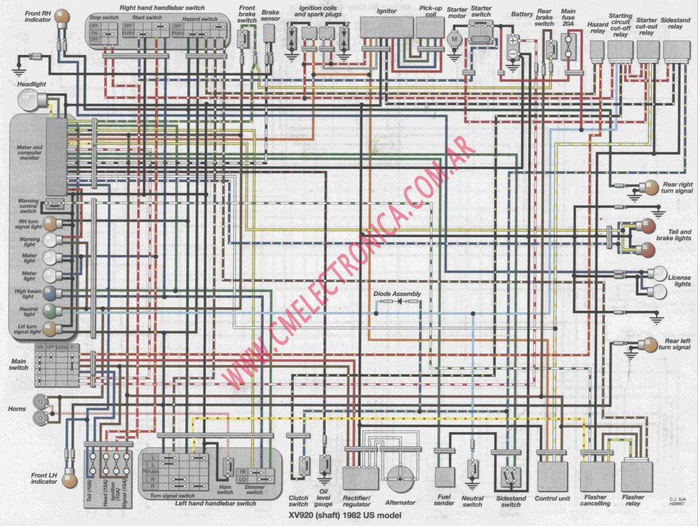 yamaha xv920 yamaha virago 535 wiring diagram efcaviation com Yamaha Virago 1000Cc Wiring-Diagram at mifinder.co