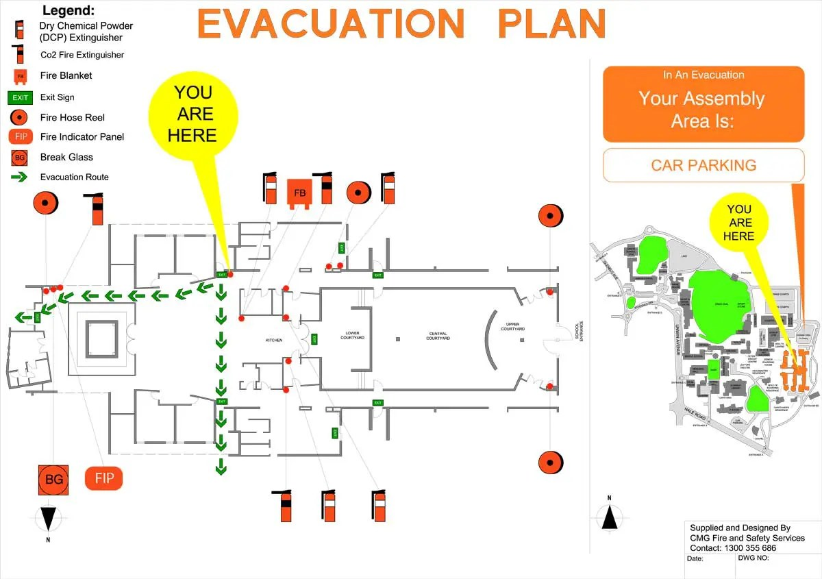 hight resolution of evacuation diagrams cmg fire and safety services fire creation diagram