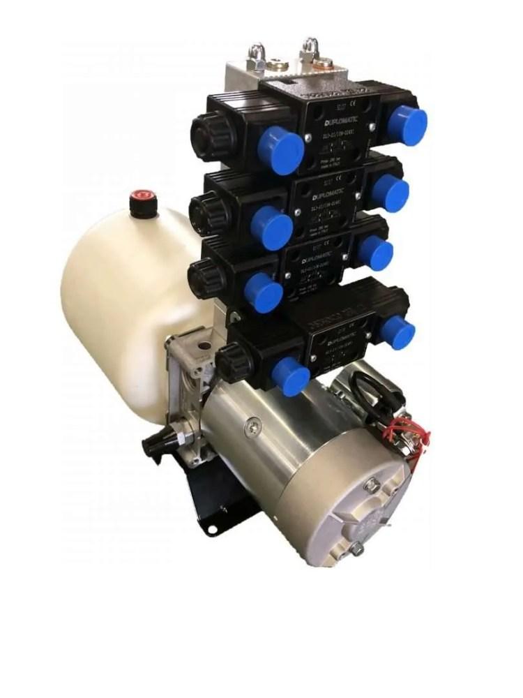 Minicentralina oleodinamica compatta per sollevatore auto multifunzionale