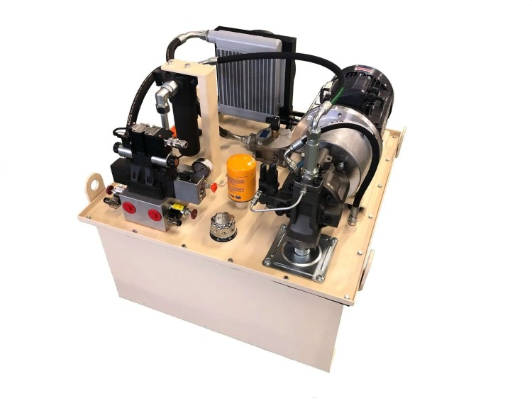 Hydraulic power pack for tyre inflation system