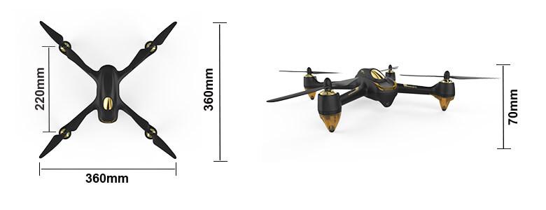HUBSAN 501A X4 AIR PRO DRONE W/GPS 1080P, 1KEY, FOLLOW