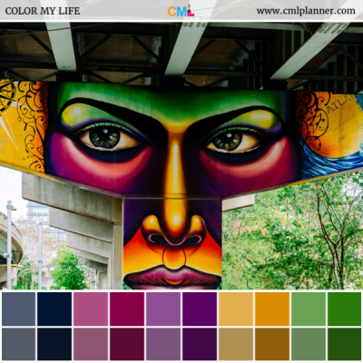 Face Under The Bridge - Color Inspiration from Color My Life