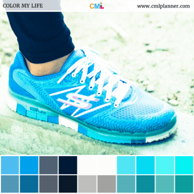 Blue Shoe - Color Inspiration from Color My Life