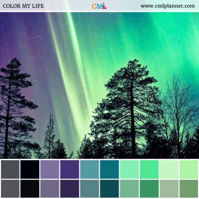 Aurora Nights - Color Inspiration from Color My Life