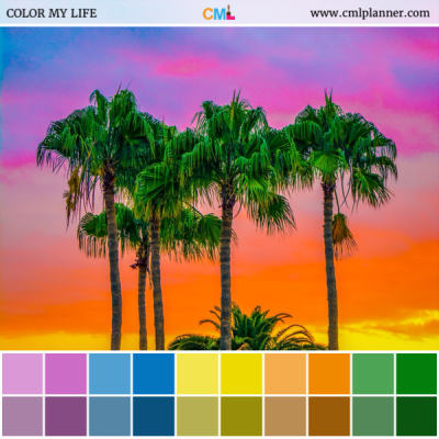 Tropical Sky - Color Inspiration from Color My Life