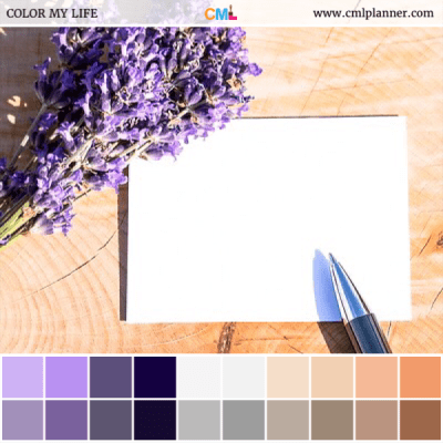 Lavender Note - Color Inspiration from Color My Life