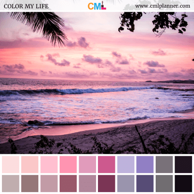 Tropical Sunset - Color Inspiration from Color My Life