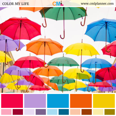Colorful Umbrellas - Color Inspiration from Color My Life