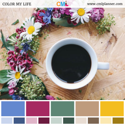 Colorful Caffeine - Color Inspiration from Color My Life