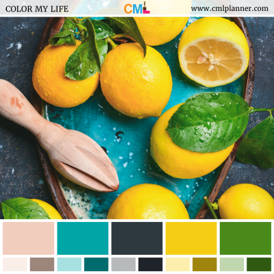 Lovely Lemons - Color Inspiration from Color My Life