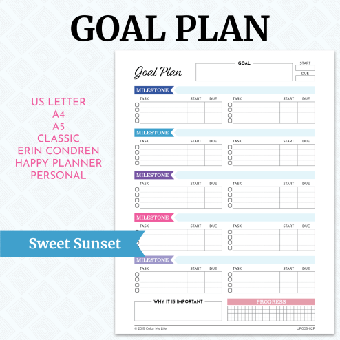 Goal Plan - Sweet Sunset