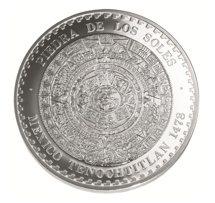 Moneda De Oro Azteca Vale Calendario Una Un Cuanto De