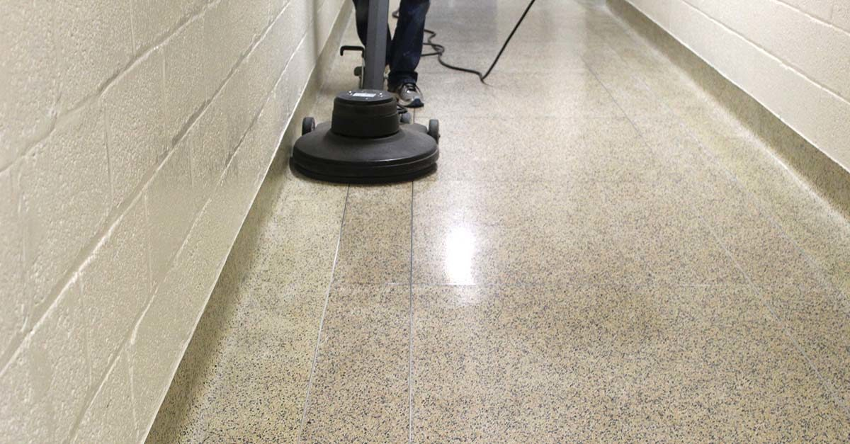how to seal and clean terrazzo floors