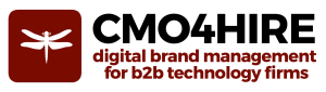 Choose CMO4Hire logo digital brand management for b2b technology firms
