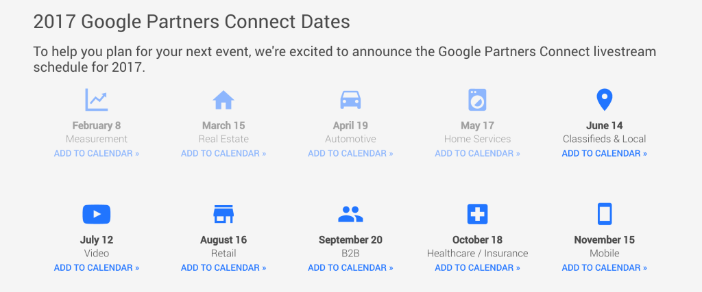 CMO4Hire google partner live event listing event dates
